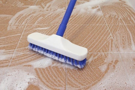 Easy to follow steps for cleaning the tile floors
